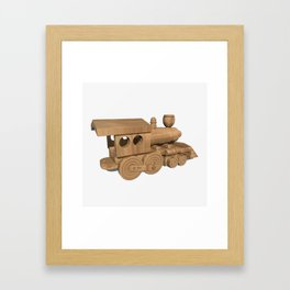 Wooden Train Framed Art Print