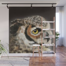 Horned Owl Portrait II Wall Mural