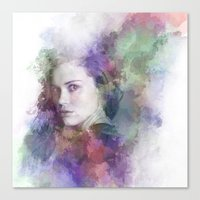 lydia martin Canvas Prints featuring Lydia Martin by NKlein Design