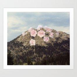 Rose Mountain Art Print