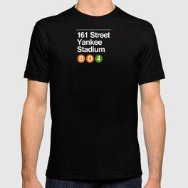 subway yankee stadium sign T-shirt
