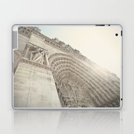 Bathed in sunlight at the Notre Dame, Paris, France Laptop & iPad Skin
