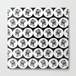 Dinosaur heads pattern Metal Print