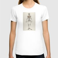 smoking T-shirts featuring Skeletons Smoking by Marko Köppe