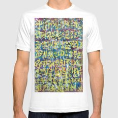 GLYPHS OF XANADU8 MEDIUM White Mens Fitted Tee