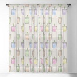 Rainbow Drinks - Pattern Sheer Curtain