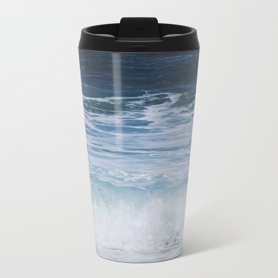 Ocean waves from the depths of the stars Metal Travel Mug