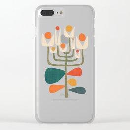 Retro botany Clear iPhone Case