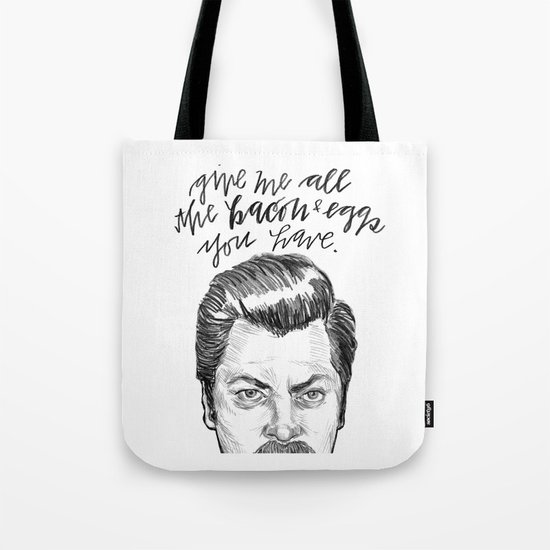 Ron Swanson. [Parks and Recreation] Tote Bag