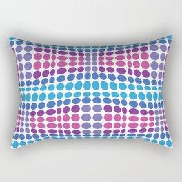Dottywave - Blue Purple wave dots pattern Rectangular Pillow