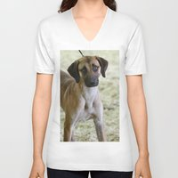 the hound V-neck T-shirts featuring Hound Pup by IowaShots