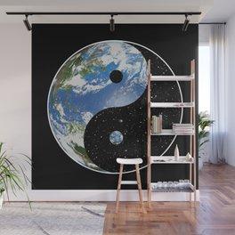 Earth / Space Yin Yang Wall Mural