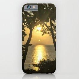 Traveling in Thailand. Beautiful Sunset at Koh Phangan Island. iPhone Case