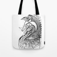 dragon Tote Bags featuring Dragon. by sonigque