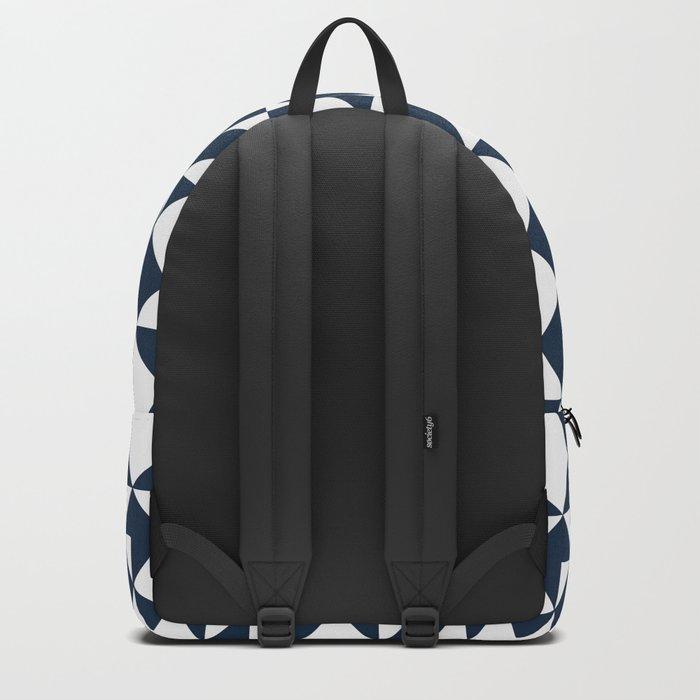 Navy blue geometric pattern Backpack
