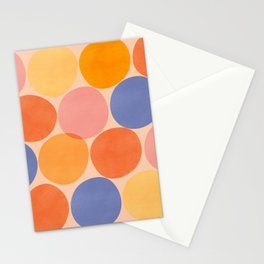 Summer Dots / Abstract Shapes Stationery Cards