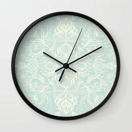 Pale Jade Tattoo - a pattern Wall Clock
