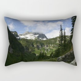 Olympic Mountains Rectangular Pillow