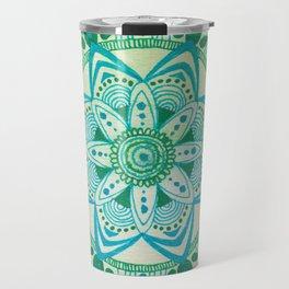 Simpe Blue/Green Mandala Travel Mug