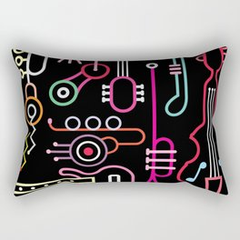 musical instruments Rectangular Pillow
