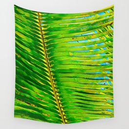 Coconut Frond in Green Aloha Wall Tapestry