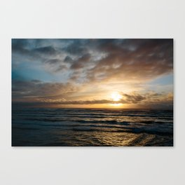 The Pacific Ocean at Sunset // Fort Stevens State Park, Oregon Canvas Print