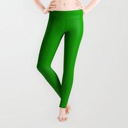 Green Color Leggings