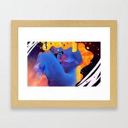 Space in vitro Framed Art Print