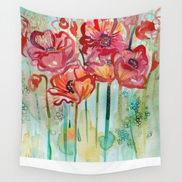 River Poppies Wall Tapestry