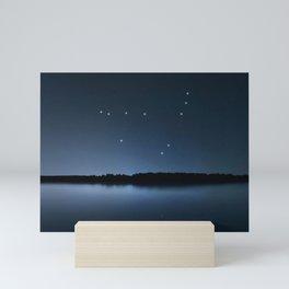 Capricornus star constellation, Night sky, Cluster of stars, Deep space,Sea Goatconstellation Mini Art Print