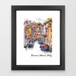 Burano Island, Italy Framed Art Print