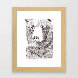 Hairy Beary Framed Art Print
