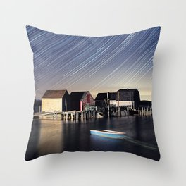 Star Trails at Blue Rocks Throw Pillow