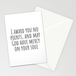No Points Stationery Cards