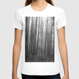 Creepy trees, black and white T-shirt