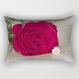 Love Rose  Rectangular Pillow