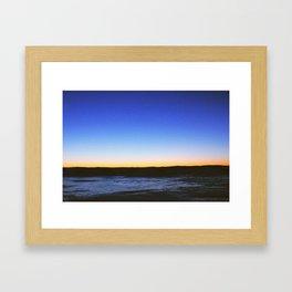 Winter Sunset Lake Framed Art Print