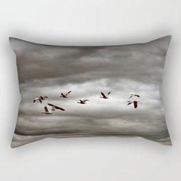 October Storm, Headed Home (Snow Geese) Rectangular Pillow