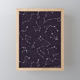 constellations pattern Framed Mini Art Print