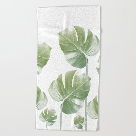 Monstera Rising Beach Towel