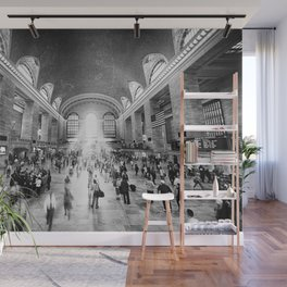 Grand Central Daylight (classic black & white edition) Wall Mural