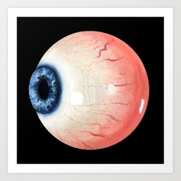 Eye ball Art Print