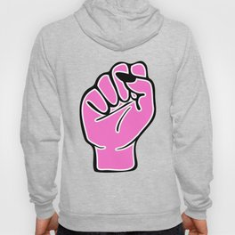 Pink female fist Hoody