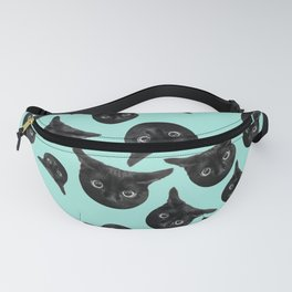 Black cat pattern Fanny Pack