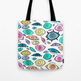 Cosmic Eyes On You Tote Bag