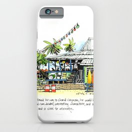 Calico Jack's, Grand Cayman (with notes) iPhone Case