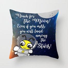 Reach for the moon Throw Pillow