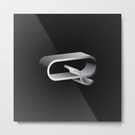 Letterform Q Metal Print