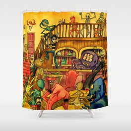 A Town Called Morteville Shower Curtain