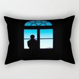 Man at the Window Rectangular Pillow
